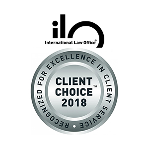 International Law Office (ILO) Client Choice Awards, 2018